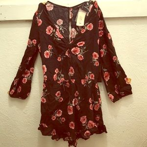 Floral Long Sleeve Romper NEW